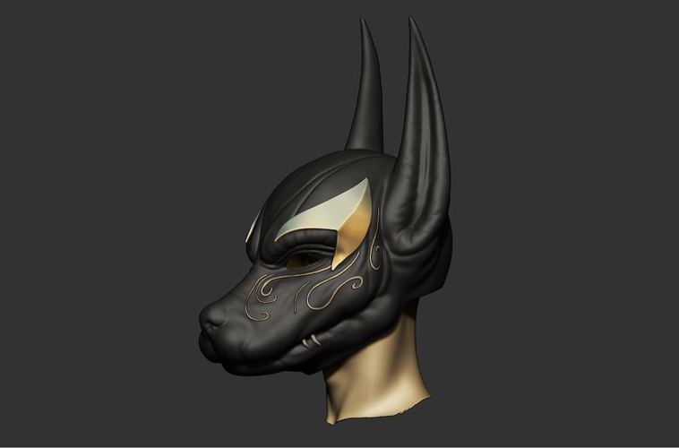 Anubis Helmet For Cosplay 3D Print 226598