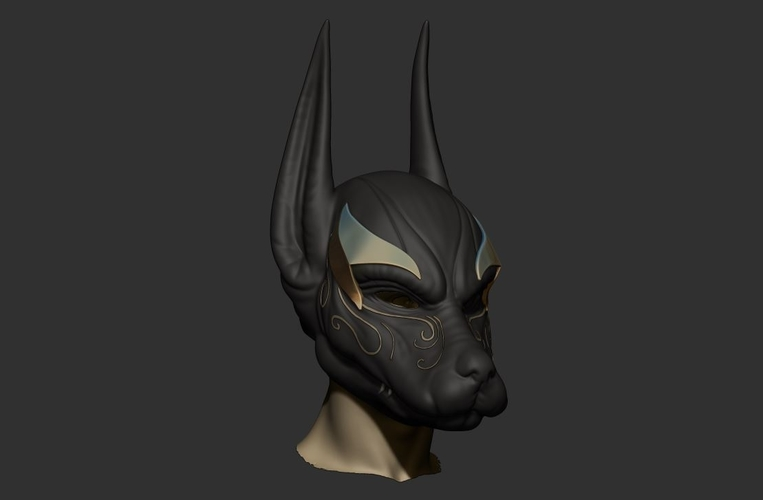Anubis Helmet For Cosplay 3D Print 226602