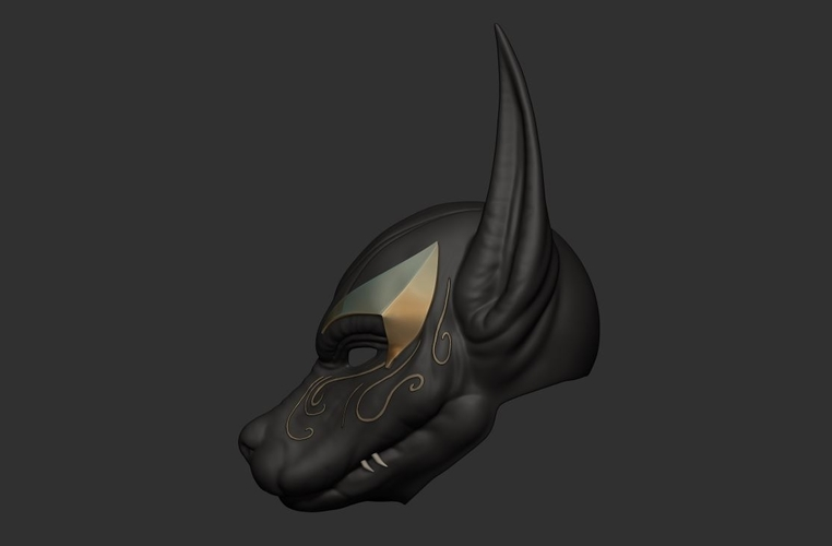 Anubis Helmet For Cosplay 3D Print 226605