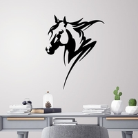 Small Horse head wall decoration 3D Printing 226725