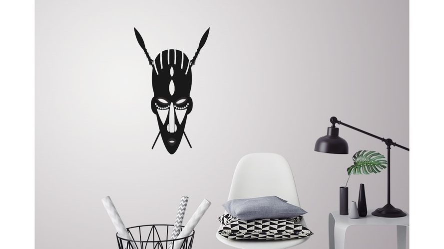 African mask wall decoration 3D Print 226727
