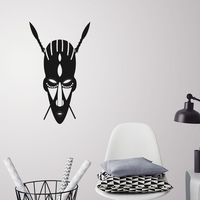Small African mask wall decoration 3D Printing 226727