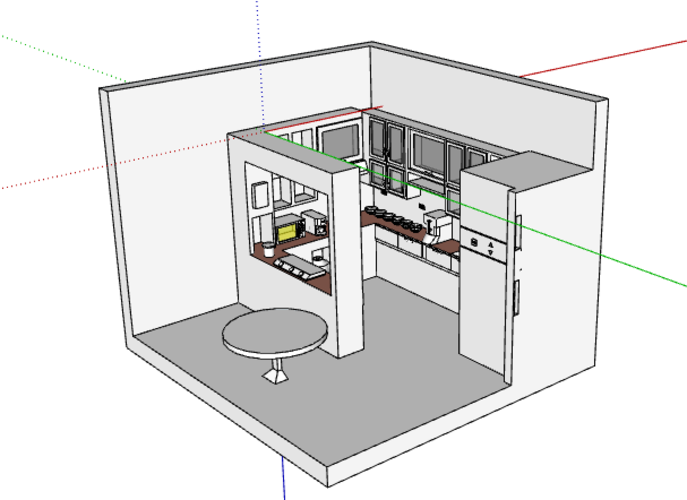 kitchen interior design( simple and modern ) 3D Print 226733