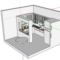 Small kitchen interior design( simple and modern ) 3D Printing 226733