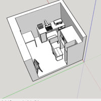 Small study room interior 3D Printing 226737