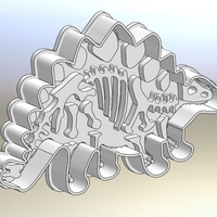 Small Dinosaurs-Bronezavr-stamp-Cookie cutters-100mm (Free) 3D Printing 226765