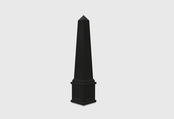 Dollhouse Miniature Obelisk 1:48, 1:24, 1:12 and 1:6 Scale 3D Print 226777
