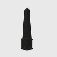 Small  Dollhouse Miniature Obelisk 1:48, 1:24, 1:12 and 1:6 Scale 3D Printing 226777