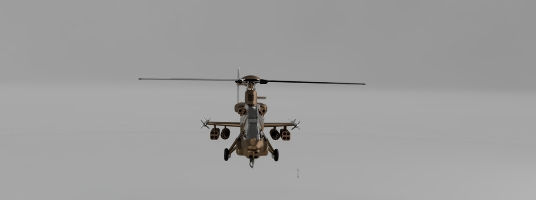 Rooivalk Attach helicopter 3D Print 226971