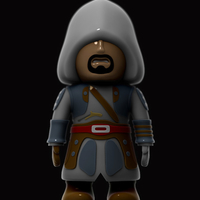 Small Assassins Creed pirate 3D Printing 227003