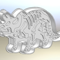 Small Dinosaurs- Trirog stamp-Cookie cutters-100mm (Free) 3D Printing 227077