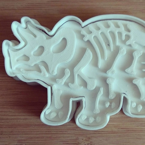 Dinosaurs- Trirog stamp-Cookie cutters-100mm 3D Print 227081