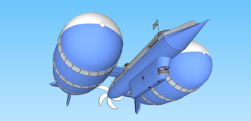 "model of the military balloon ""Pelican"" 3D Print 227120"