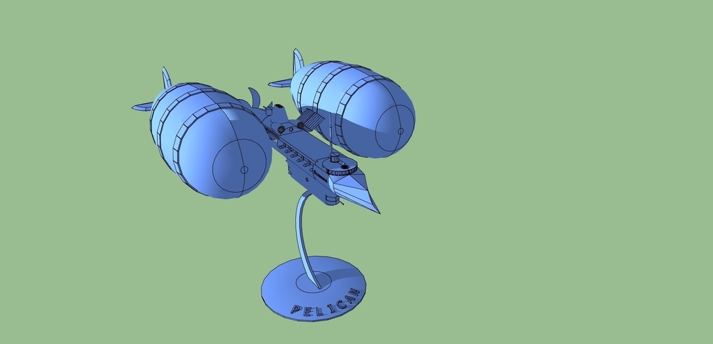 "model of the military balloon ""Pelican"" 3D Print 227123"