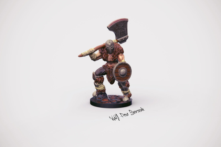 32mm Miniature Wolf Paw Berserk