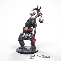 Small 32mm Miniature Wolf Paw Shaman 3D Printing 227140