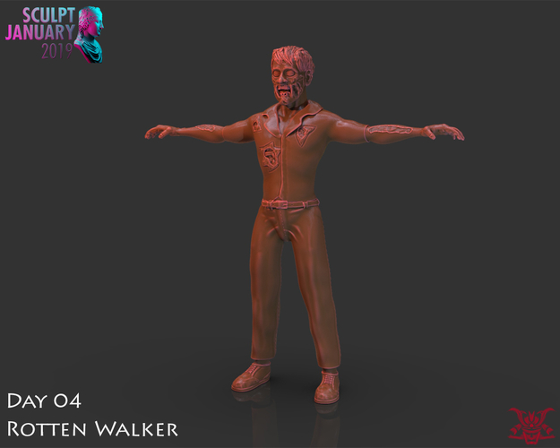 Zombie Inspired by The Walking Dead 3D Print 227252
