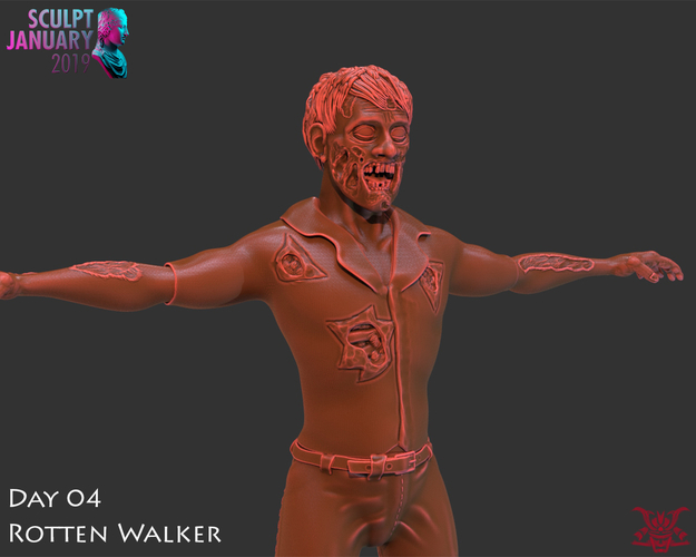 Zombie Inspired by The Walking Dead 3D Print 227253
