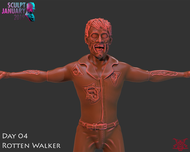 Zombie Inspired by The Walking Dead 3D Print 227254