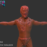 Small Zombie Inspired by The Walking Dead 3D Printing 227254