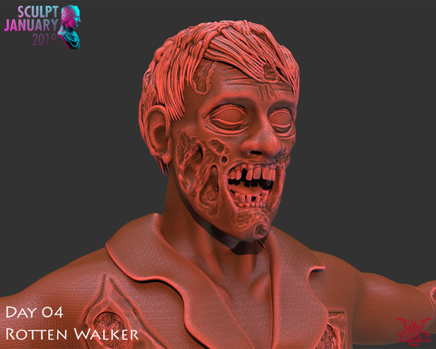 Zombie Inspired by The Walking Dead 3D Print 227257