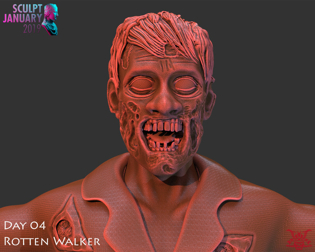 Zombie Inspired by The Walking Dead 3D Print 227258