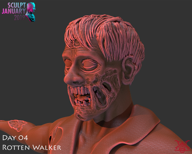 Zombie Inspired by The Walking Dead 3D Print 227259