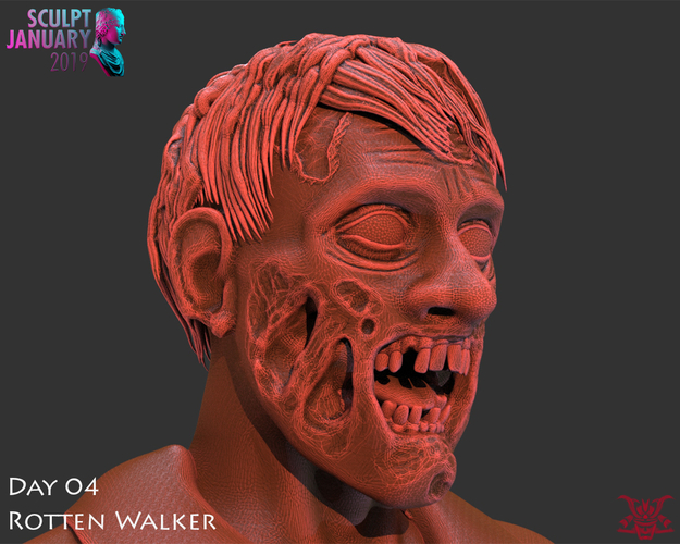 Zombie Inspired by The Walking Dead 3D Print 227261