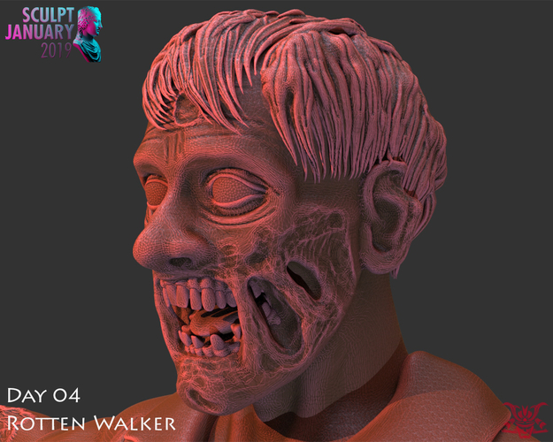 Zombie Inspired by The Walking Dead 3D Print 227263