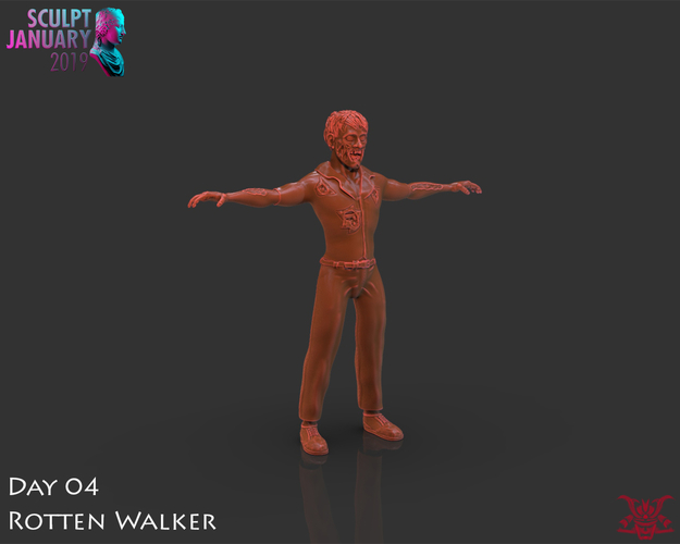 Zombie Inspired by The Walking Dead 3D Print 227264