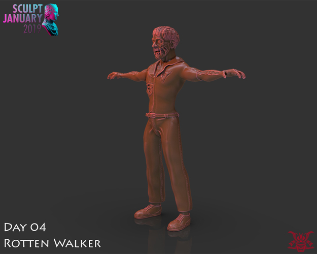 Zombie Inspired by The Walking Dead 3D Print 227267