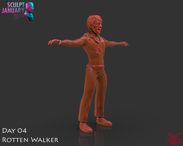 Zombie Inspired by The Walking Dead 3D Print 227271