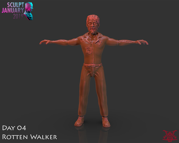 Zombie Inspired by The Walking Dead 3D Print 227272