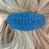 Small AINHOA Personalized Oval Hair Barrete 60-76 3D Printing 227287