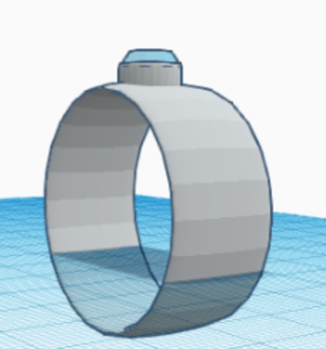diamond ring  3D Print 227314