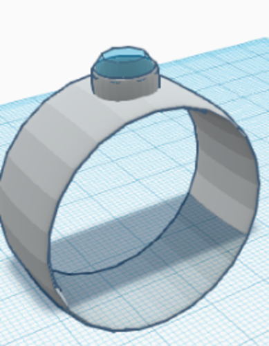 diamond ring  3D Print 227316