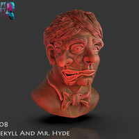 Small Bust of Dr Jekyll and Mr Hyde 3D Printing 227374