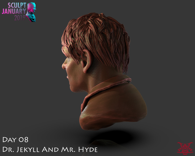 Bust of Dr Jekyll and Mr Hyde 3D Print 227378