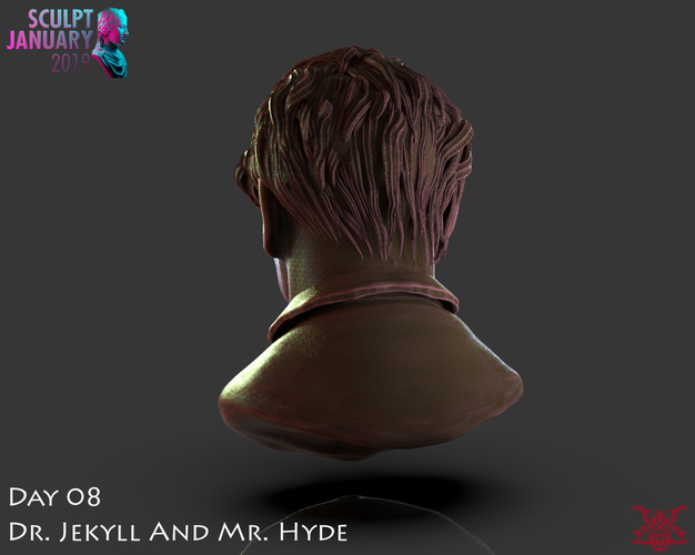 Bust of Dr Jekyll and Mr Hyde 3D Print 227379