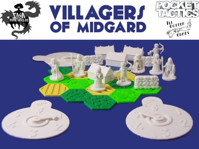 Pocket-Tactics Villagers of Midgard 3D Print 2274