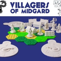 Small Pocket-Tactics Villagers of Midgard 3D Printing 2274