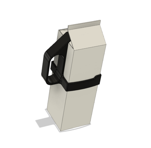 HJV Milk Carton Handle  3D Print 227562