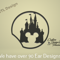 Small Mickey Castle - Mouse Ear 3D Printing 227585