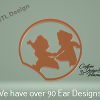 Small Chip and Dale - Mouse Ear 3D Printing 227601