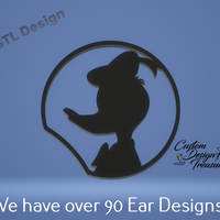 Small Donald Duck - Mouse Ear 3D Printing 227602