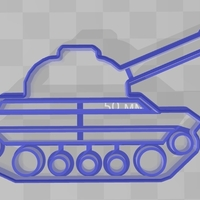Small cookie cutter tank 3D Printing 227650