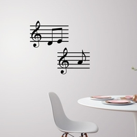 Small Music note wall decoration 3D Printing 227700