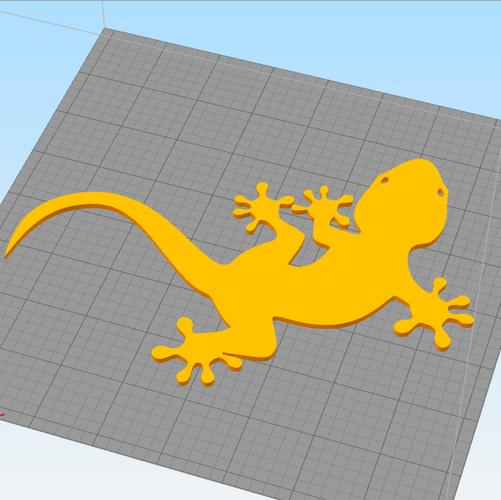 Lizard for wall decoration 3D Print 227701