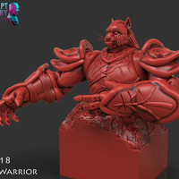 Small Cat Warrior 3D Printing 227820