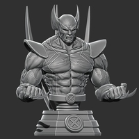 Small Wolverine bust from Marvel - 3D print - STL file 3D Printing 227853